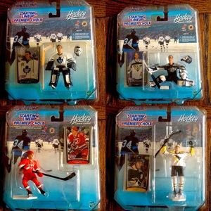 4 STARTING LINEUP Collectible Hockey Figures 🏒